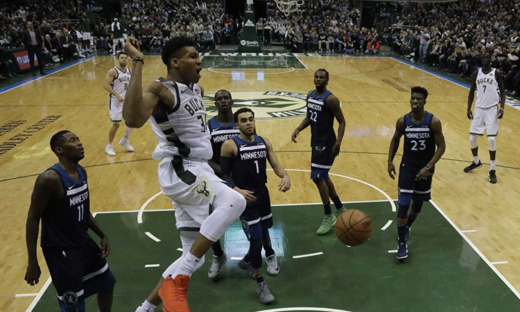 Milwaukee Bucks: 102 - Minnesota Timberwolves: 96